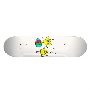 two dancing chick and easter egg.png skate deck