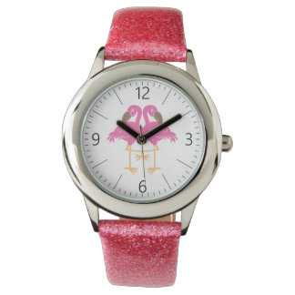 Two dancing flamingo watch
