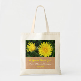 Two Dandelions Custom Tote for Wedding Guests