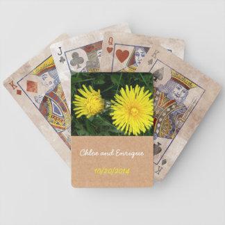 Two Dandelions Custom Wedding Bicycle Playing Cards