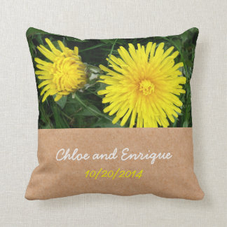 Two Dandelions Custom Wedding Cushion