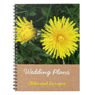 Two Dandelions Custom Wedding Plans Note Book