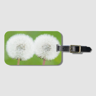 Two dandelions luggage tag