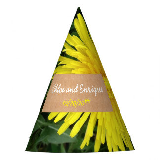Two Dandelions Personalized Wedding Party Hat