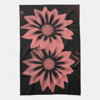 Two Dark Pink Gazanias Tea Towel