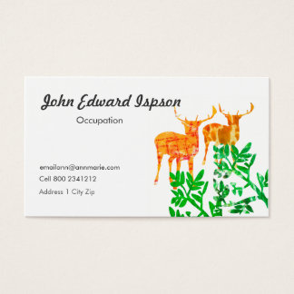 Two Deers Business Card