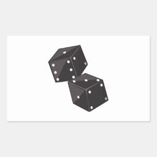 Two Dice Rectangular Sticker