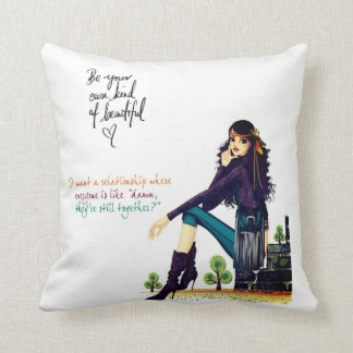 two different sided colourful  pillow