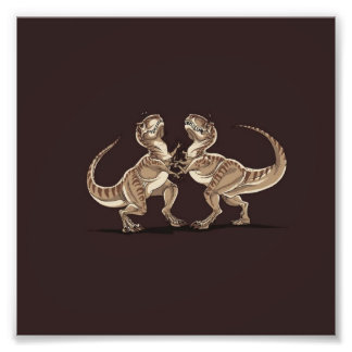 Two dinosaurs fighting each other illustration art photo