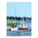 Two Docked Sailboats Norwalk, CT Custom Invites