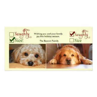 Two dog Christmas card photo template Personalized Photo Card
