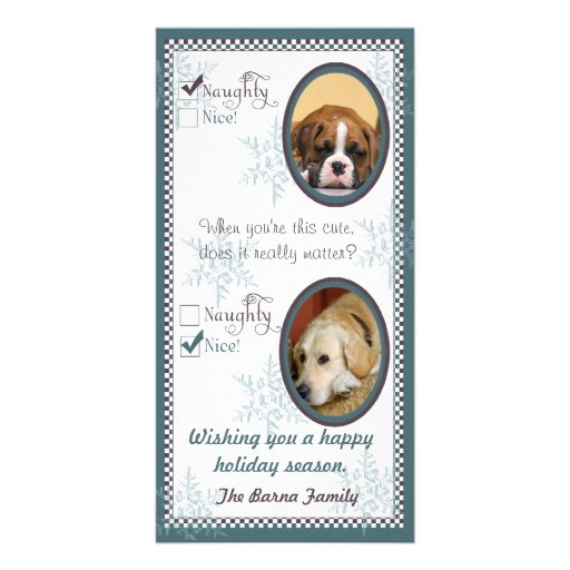 Two dog Christmas Card template Photo Card Template