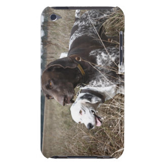 Two Dogs in Field, Houston, Texas, USA iPod Touch Case