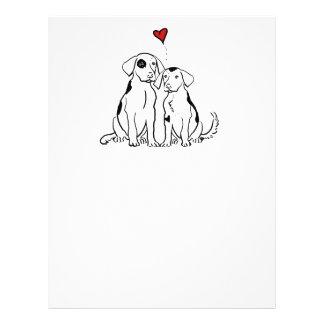 Two Dogs Puppy Love 21.5 Cm X 28 Cm Flyer