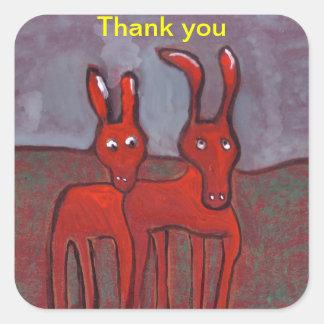 Two donkeys thank you Sticker