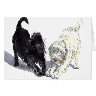 Two Doodles Greeting Card