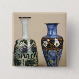Two Doulton vases by Eliza Simmance, c.1880 15 Cm Square Badge