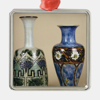 Two Doulton vases by Eliza Simmance, c.1880 Christmas Ornament