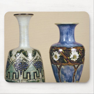 Two Doulton vases by Eliza Simmance, c.1880 Mouse Mat