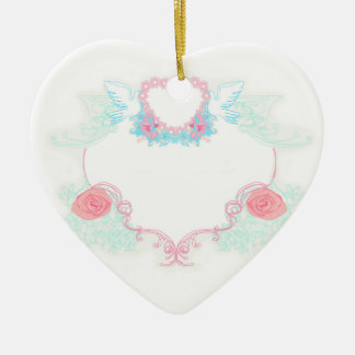 Two doves holding heart Decoration Ceramic Heart Decoration