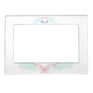 Two doves holding heart Magnetic Frame