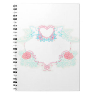Two doves holding heart Notebook