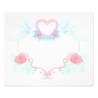 Two doves holding heart Photo Enlargement