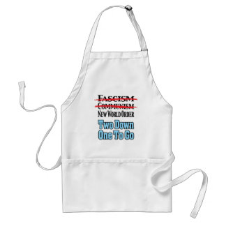 Two Down One To Go Aprons