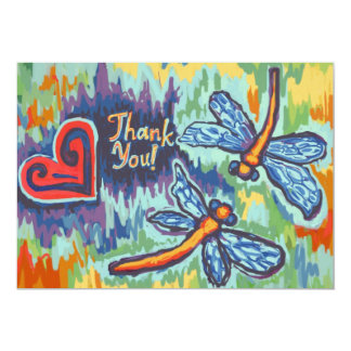 Two Dragonflies, Thank You Cards