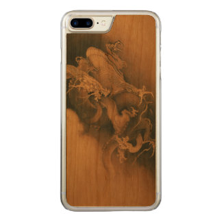 Two Dragons in Clouds Vintage Carved iPhone 8 Plus/7 Plus Case