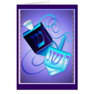 Two Dreidels-Happy Spinning Card
