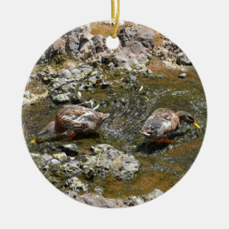 Two Ducks Christmas Ornament