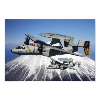 Two E-2C Hawkeyes conduct a flyby Photo Print