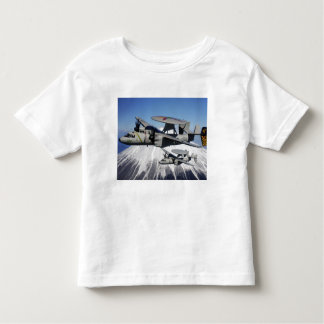 Two E-2C Hawkeyes conduct a flyby Toddler T-Shirt