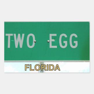TWO EGG, FLORIDA RECTANGULAR STICKER