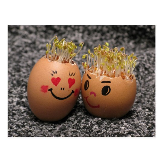 Two eggmen Dating Postcard