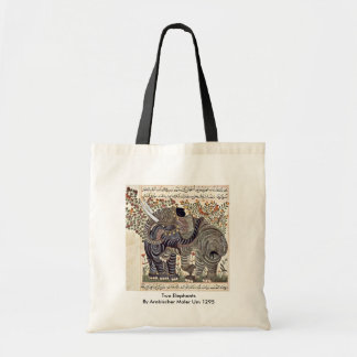 Two Elephants By Arabischer Maler Um 1295 Tote Bag
