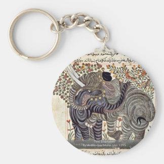 Two Elephants By Arabischer Maler Um 1295 Key Chain