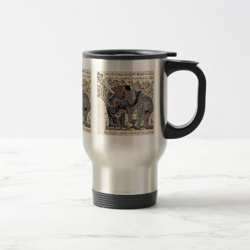 Two Elephants By Arabischer Maler Um 1295 Coffee Mugs