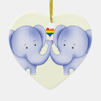 Two Elephants Pride Wedding Christmas Ornament