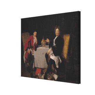 Two Epicureans Canvas Print