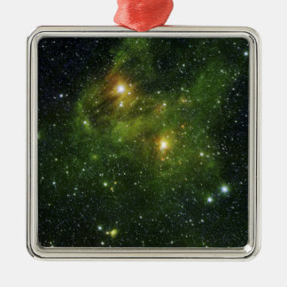 Two extremely bright stars Silver-Colored square decoration