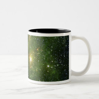 Two extremely bright stars Two-Tone coffee mug