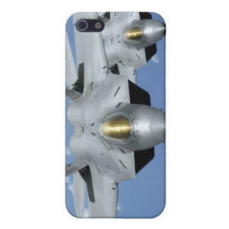 Two F-22 Raptors fly over the Pacific Ocean 2 Cover For iPhone 5/5S