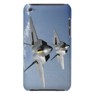 Two F-22 Raptors fly over the Pacific Ocean Barely There iPod Cases