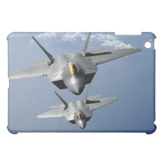 Two F-22 Raptors fly over the Pacific Ocean Cover For The iPad Mini