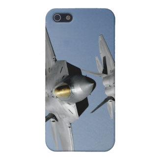 Two F-22 Raptors fly over the Pacific Ocean iPhone 5/5S Cover