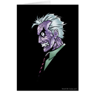 Two Face Profile Greeting Card
