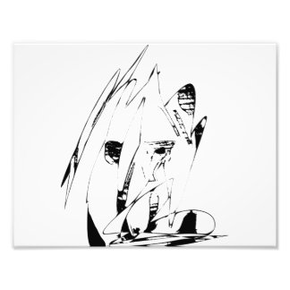 Two Faced Digital Art Print