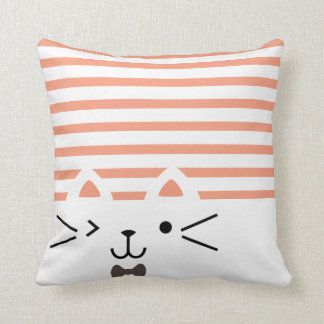 Two Faced Kitty Cushion